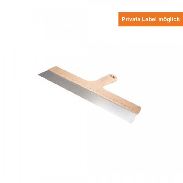 Edelstahl Fassadenspachtel Holz